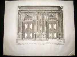 Paul Decker 1711 Folio Baroque Architectural Print. Wall 17